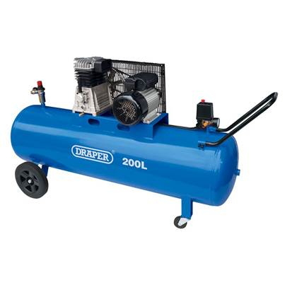 Draper 200L Belt-Driven Air Compressor (2.2kW)