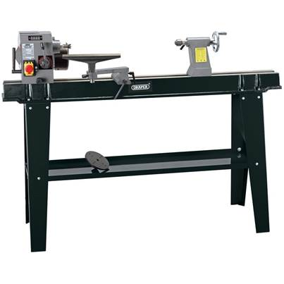 Draper Variable Speed Wood Lathe with Digital Display (750W)