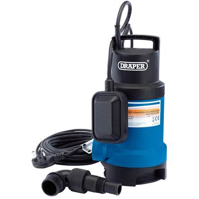 Draper 166L/Min Submersible Dirty Water Pump with Float Switch (550W)