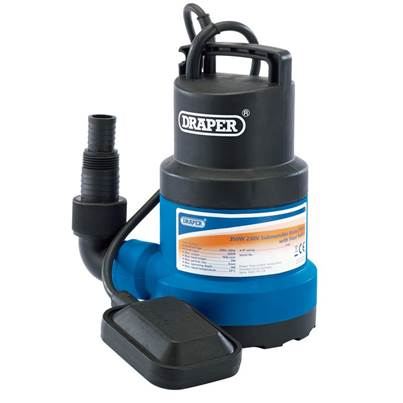 Draper 125L/Min Submersible Water Pump with Float Switch (350W)