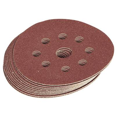 Draper Ten 125mm 60 Grit Hook and Loop Sanding Discs