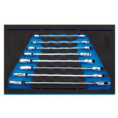 "Open Ended Spanner Set in 1/4"" Drawer EVA Insert Tray (8 Piece)"