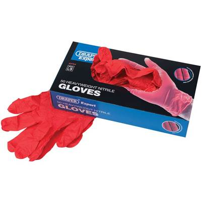Draper Heavyweight Nitrile Gloves (Box of 50)