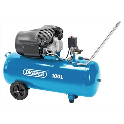 Draper 100L V-Twin Air Compressor (2.2kW)