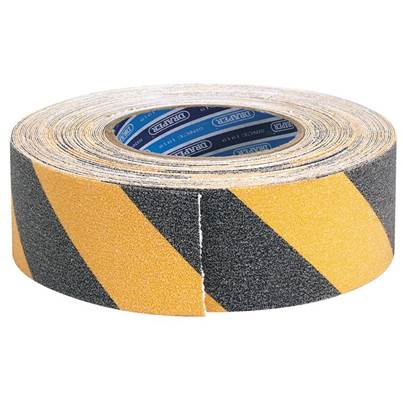 Draper 18M x 50mm Black and Yellow Heavy Duty Safety Grip Tape Roll