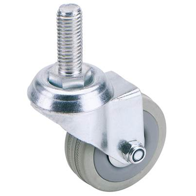 75mm Dia. Swivel Bolt Fi x ing Rubber Castor - S.W.L 70Kg