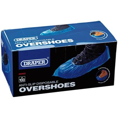 Draper Disposable Overshoe Covers (Box of 100)