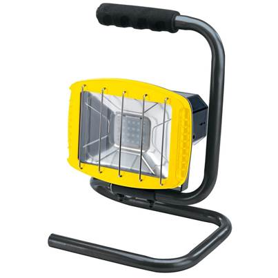 Draper 230V Work Light with Wireless Speaker - 1,200 Lumens (Yellow, 85 dB Speaker)