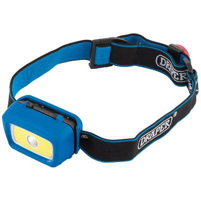 Draper CREE and COB LED Head Lamp (3W) (3 x AAA Batteries)