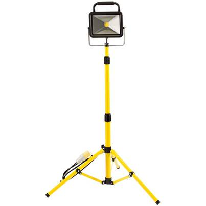 Draper 50W 110V COB LED Work Light with Tripod - 6,500 Lumens