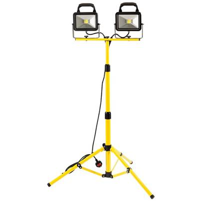 Draper 20W 230V COB LED Twin Work Light with Tripod - 2,600 Lumens