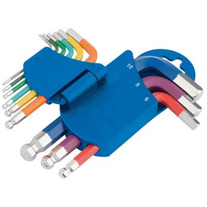 Draper Metric Coloured Short Arm Hexagon Key Set (9 Piece)