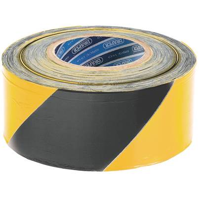 Draper 500M x 75mm Black and Yellow Barrier Tape Roll