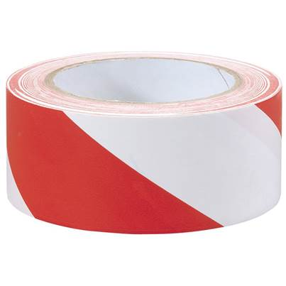 Draper 33M x 50mm Red and White Hazard Tape Roll