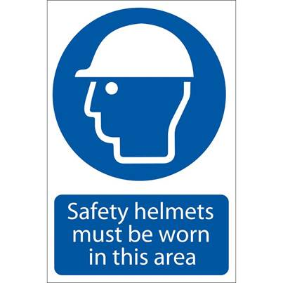 Draper 'Safety Helmet' Mandatory Sign