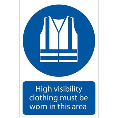 Draper 'Hi-Visibility Clothing' Mandatory Sign