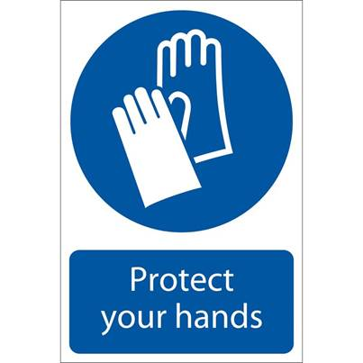 Draper 'Hand Protection' Mandatory Sign