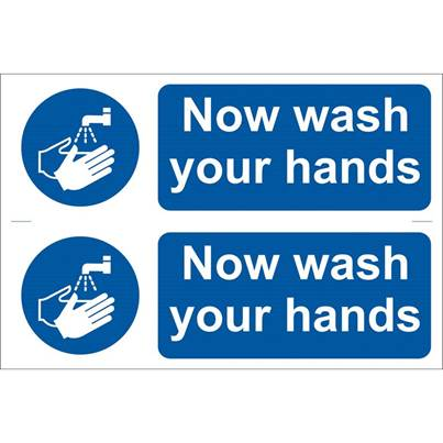 Draper 2 x 'Wash Your Hands' Mandatory Sign
