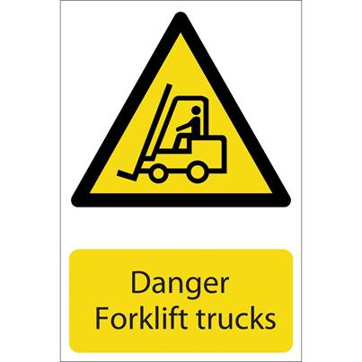 Draper 'Danger Forklift Trucks' Hazard Sign