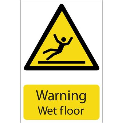Draper 'Warning Wet Floor' Hazard Sign