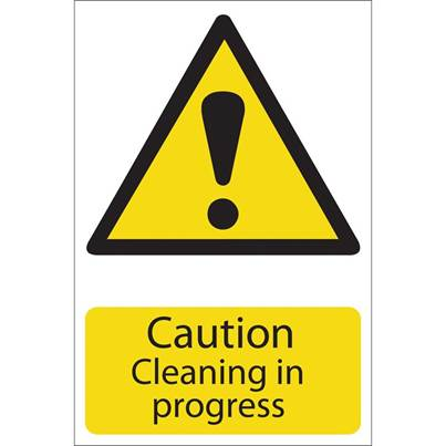 Draper 'Caution Cleaning' Hazard Sign