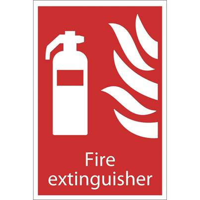 Draper Fire Extinguisher' Fire Equipment Sign