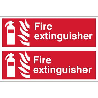 Draper 2 x 'Fire Extinguisher' Fire Equipment Sign