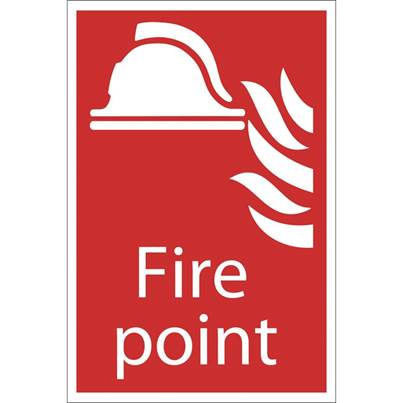 Draper 'Fire Point' Fire Equipment Sign