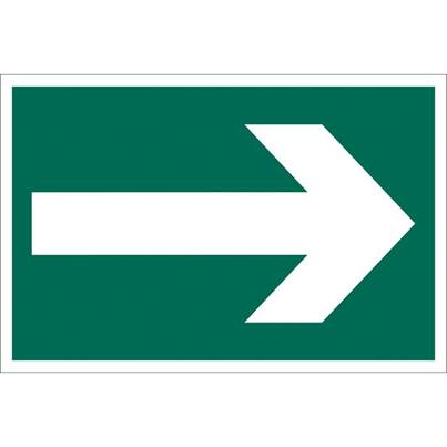 Draper 'Arrow Symbol' Safety Sign