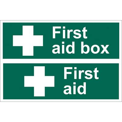 Draper First Aid Box ' Safety Sign