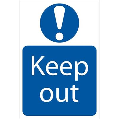 Draper 'Keep Out' Mandatory Sign
