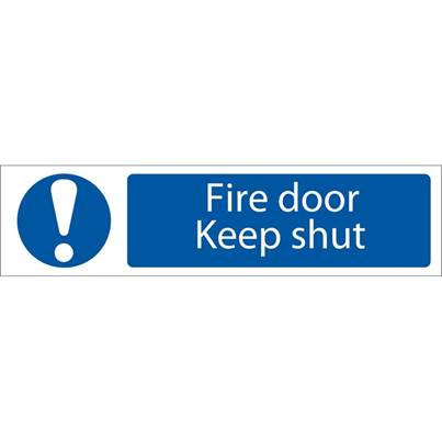 Draper 'Fire Door Keep Shut' Mandatory Warning Sign