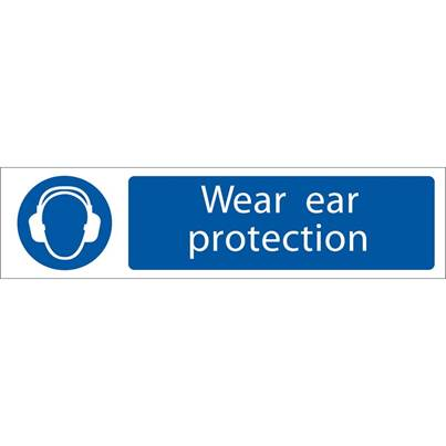 Draper 'Ear Protection' Mandatory Sign