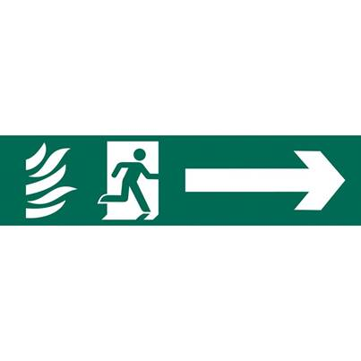 Draper 'Running Man Arrow Right' Safety Sign