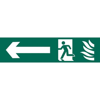 Draper 'Running Man Arrow Left' Safety Sign
