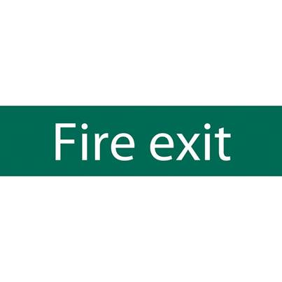 Draper Fire Exit' Safety Sign
