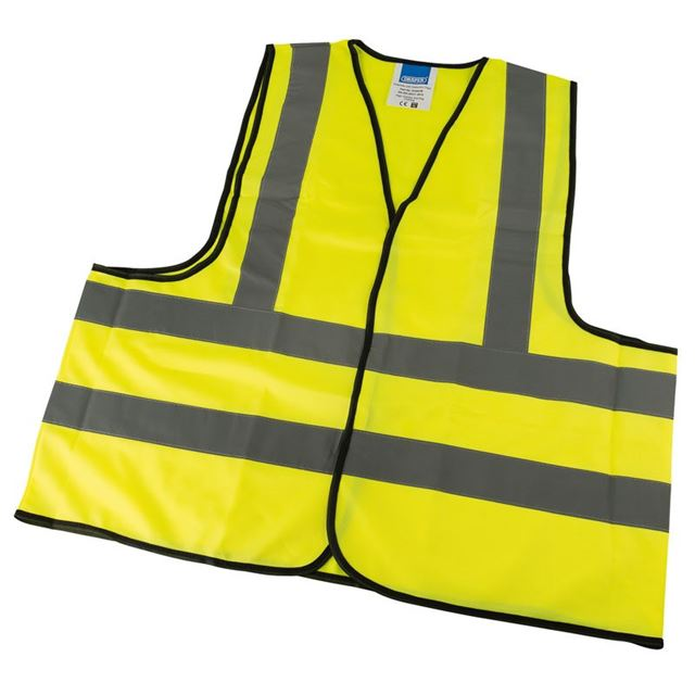 Draper High Visibility Traffic Waistcoat to EN471 Class 2L, Extra Large