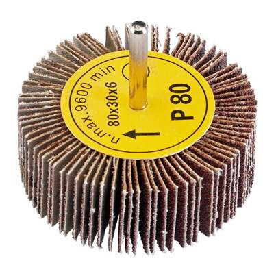 Draper Abrasive Flap Wheel (80mm x 30mm 80 Grit)