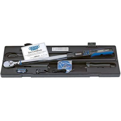 "Draper 1/2"" Sq. Dr. Electronic Precision Torque Wrench 68-340Nm with RS232 and USB Interface"