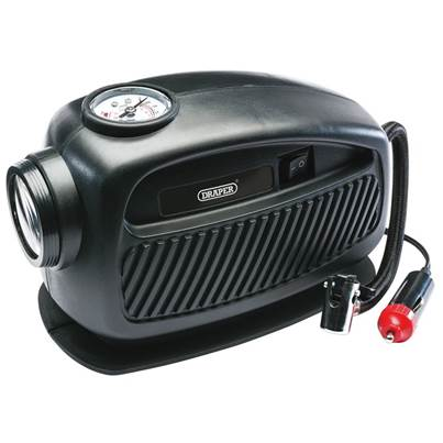 Draper 12V Mini Analogue Air Compressor (250Psi Max.)