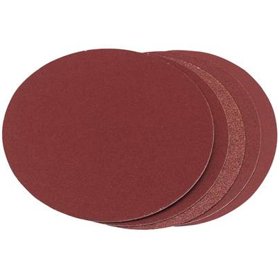 Draper Five Assorted Grit Aluminium Oxide Sanding Discs (150mm)