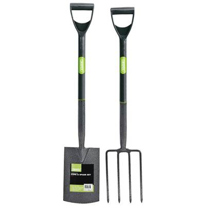 Draper Carbon Steel Garden Fork and Spade Set