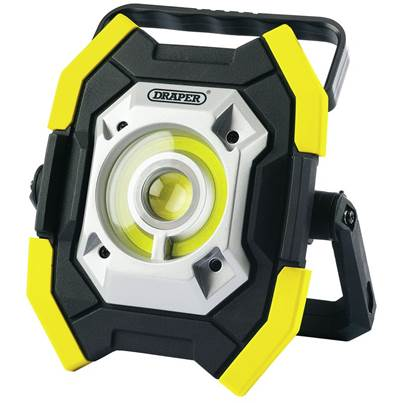 Draper Twin COB LED Rechargeable Worklight, 5W & 10W, 1000 Lumens, Yellow