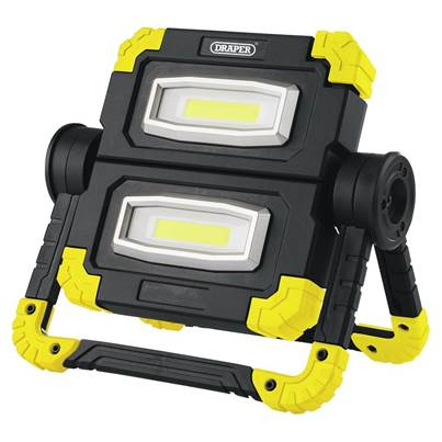 Draper Twin COB LED Rechargeable Worklight, 10W, 850 Lumens