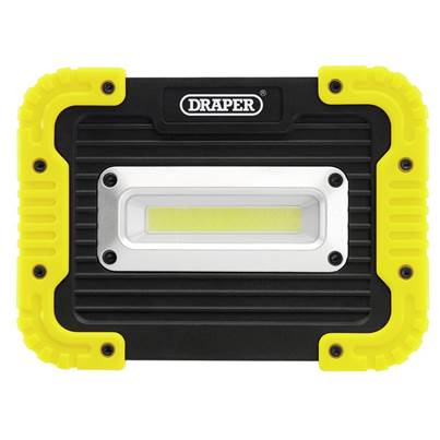 Draper COB LED Worklight, 10W, 700 Lumen, 4 x AA Batteries Supplied