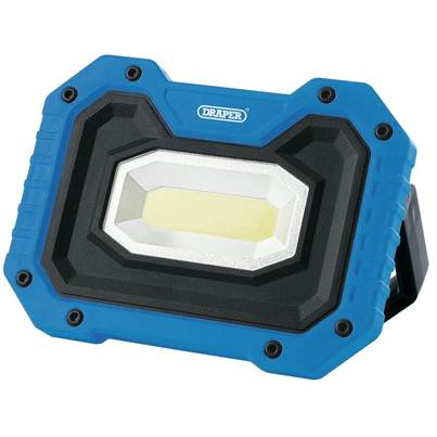 Draper 5W COB LED Rechargeable Work Light with Wireless Speaker (Blue)