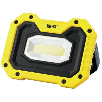 Draper COB LED Rechargeable Worklight with Wireless Speaker, 5W, 500 Lumens, Yellow