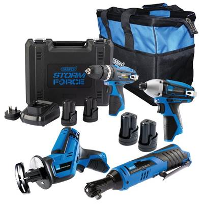 Draper Storm Force ® 10.8V DRILL 4 Pack + 4 Batt.
