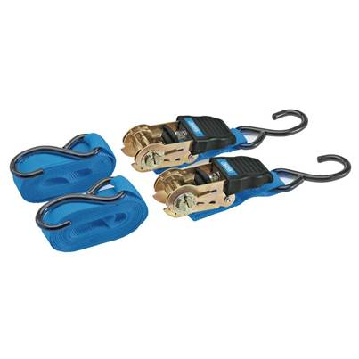 Draper Ratcheting Tie Down Strap Set (2 Piece)