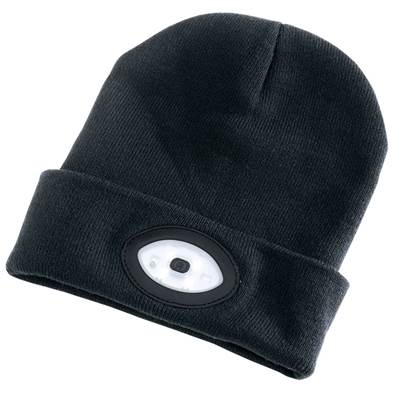 Draper Beanie with Rechargeable Built-in LED Headtorch (Black)